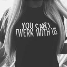Женская <b>футболка</b> с буквенным принтом you can&#39;t twerk ...