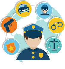 Graphic Design Office Awesome Police Officer Security Guard Vector Flat Police 4848