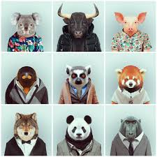 zoo animals in clothes. Unique Animals On Zoo Animals In Clothes H