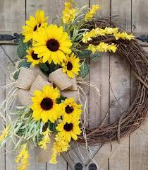 how to make a wreath with sunflowers 5 easy diy ideas and tutorials decoration 1 20