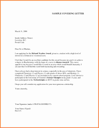 example of simple cover letter for job application  life