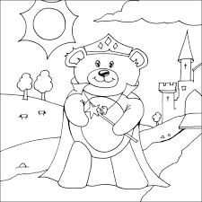 Small Picture Princess Teddy Bear Colouring