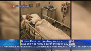 boston marathon ing survivor adrianne haslet hit by car
