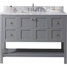 virtu usa winterfell  in w x  in d vanity in grey with