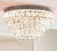 clarissa crystal drop extra large flush mount pottery barn worldwide lighting