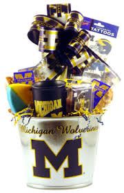 university of michigan deluxe gift basket