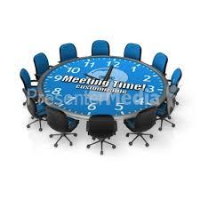 round meeting table custom custom text great clipart for presentations presentermedia com