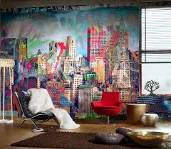 informal green wall indoors. View In Gallery Fabulous And Colorful Graffiti Wall For The Eclectic Living Room [From Design Sheppard] Informal Green Indoors