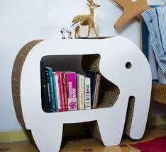 diy cardboard furniture. Furniture: Elephant Cardboard Bookshelves Design - DIY Diy Furniture