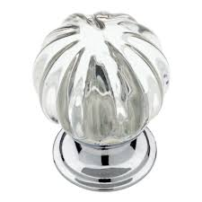 glass cabinet knobs. Chrome With Clear Fluted Glass Cabinet Knob Knobs Home Depot