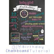 diy birthday chalkboard tutorial