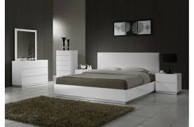 stylish modern white king size bedroom furniture sets ideas with brown gy rug and black accent bed lamp