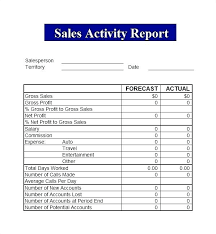 Daily Sales Activity Report Excel Unique Sales Report Template 48 Free Doc Download Sample Templates Trip
