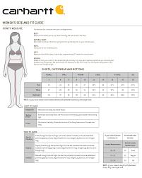 Carhartt Overall Size Chart Womens Cahartt Weathered Duck Lined Wildwood Bib Overalls