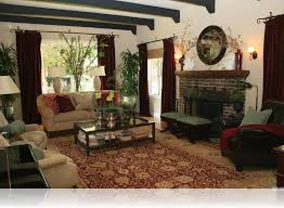 Living Room:Chic Spanish Style Living Room Interior Design With Elegant  Ceiling Light And Glass