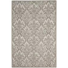 nourison damask ivory grey 8 ft x 10 ft area rug
