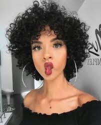 image is loading fashion black human hair wig short curly afro