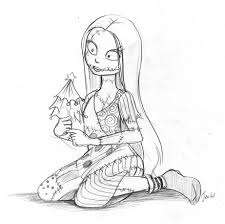 Sally Nightmare Before Christmas Coloring Pages The Nightmare Before