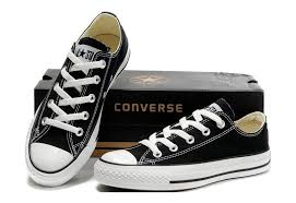 converse all star black. converse shoes black chuck taylor all star classic womens/mens canvas lo sneakers