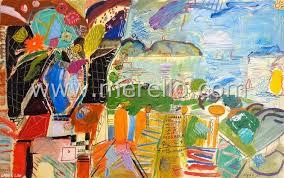 merello bouquet fe al terráneo 81x130 cm mixed a on canvas