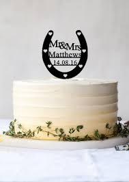 Custom Wedding Cake Topperlucky Horseshoe Mr And Mrspersonalized