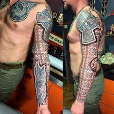 славянские тату эскизы рукав славянские символы тату