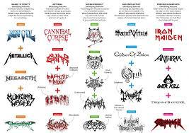 A Field Guide To Metal Logos The Grid 7 20 11 Bilton