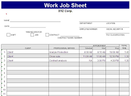 Employee Attendance Sheet In Excel For Office Free Job Sheet Template