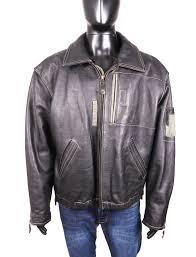 Interstate Leather Jacket Size Chart Hein Gericke Mens Leather Jacket Vintage Black Xl