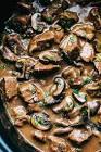 beef with mushrooms crock pot recipe