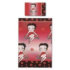 betty boop red black duvet quilt