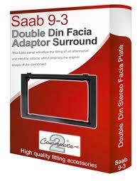 saab cd radio stereo wiring harness adapter lead amazon co saab 9 3 stereo radio facia fascia adapter panel plate trim cd surround double