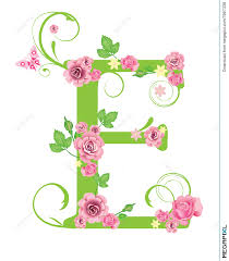 Image result for Images of the letter E pink and green