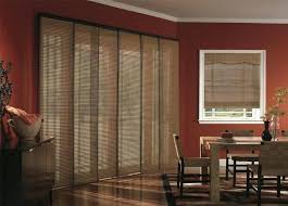 window treatments for sliding glass doors budget blinds woven wood panel track blinds horizontal window blinds