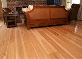unfinished hardwood flooring hickory select better grade room scene