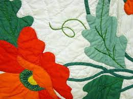 close up of workmanship - look at the applique and fine stems and ... & close up of workmanship - look at the applique and fine stems and petals-  also. Flower QuiltsFlower ... Adamdwight.com