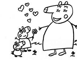 Famiglia Peppa Pig Al Mare Da Colorare Disegni Da Colorare Mamma