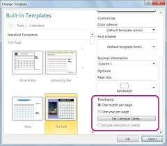 Microsoft Office 2010 Calendar Templates Change The Dates On A Calendar In Publisher Publisher