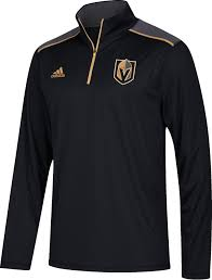 adidas quarter zip. adidas men\u0027s vegas golden knights black performance quarter-zip jacket quarter zip