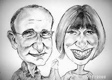 personalised caricature of two people from photos happy wonderful gifts on