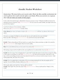 Gandhi Movie Worksheets -- 123 Cloze/Fill-in Problems   Worksheets ...
