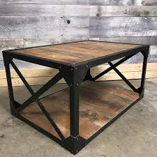 metal industrial furniture. X Industrial Rustic Mango Wood Coffee Table Metal Furniture L