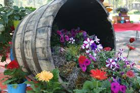 tiered and turned barrel planter