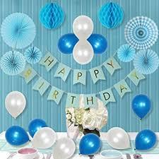 1st birthday banner amazon com litaus party decorations for boy paper fan flower