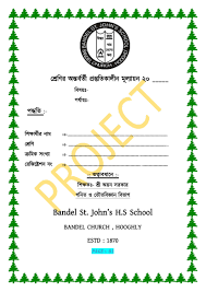 Project Front Page For The Class Ix And X Psc Sc Bandel St