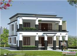Alluring Flat Roof House Plans : Square Meter Flat Roof House Kerala Home  Design Floor Plans