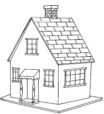 House Coloring Pages This Coloring Page For Kids Features A Simple
