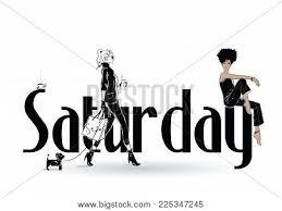 Saturday Fashion Girl Vector Photo Free Trial Bigstock