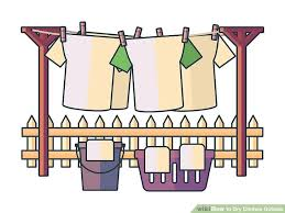drying clothes clipart black and white. Beautiful White Image Titled Dry Clothes Outside Step 20 And Drying Clipart Black White L