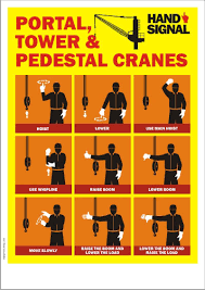 Crane Safety Poster Portal Cranes Tower Cranes And